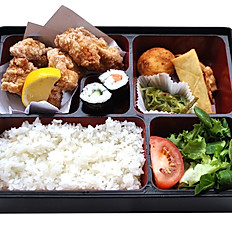 Chicken Karaage Bento With Miso Soup