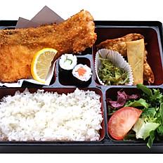 Salmon Katsu Bento With Miso Soup