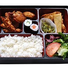 Chicken Teriyaki Bento With Miso Soup