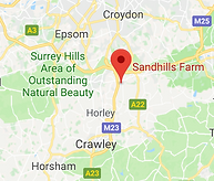 Google Map of Sandhills Farm Surrey