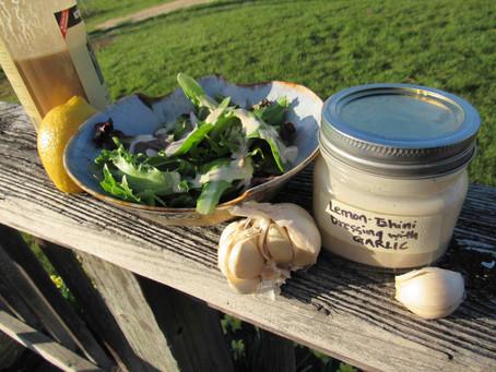 Lemon Tahini Dressing with Garlic