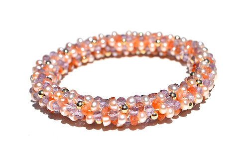 Sunstone, Amethyst, Pearls