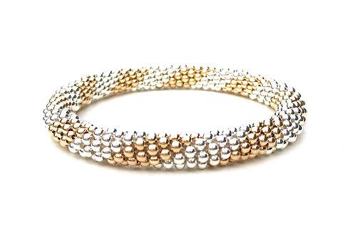 Silver + Gold Stripe