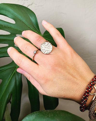 Hammered Piena Ring