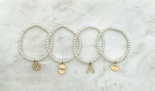 Ogallala Pearl Charm Bracelet
