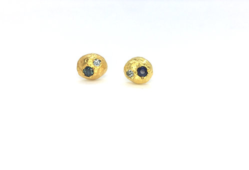 Sediment Studs with Sapphires