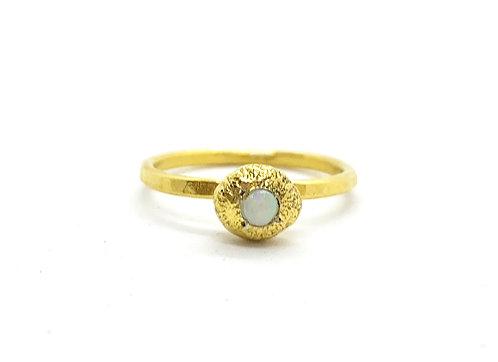 Sediment Pebble Ring, Opal - Sz 6.5