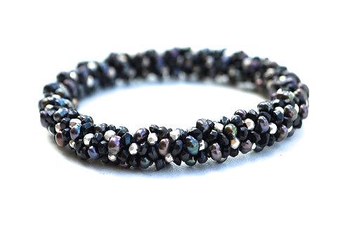Black Tourmaline, Pearls, Pyrite