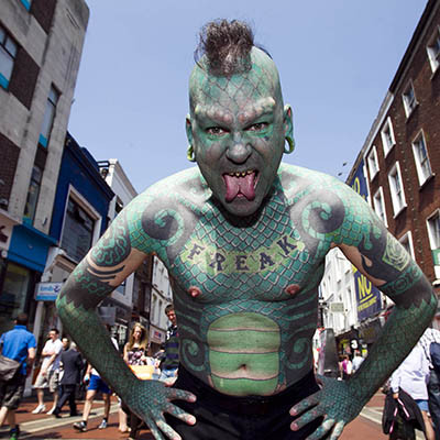 Fiestaval Street Arts, Comedy & Music Festival - Lizard Man