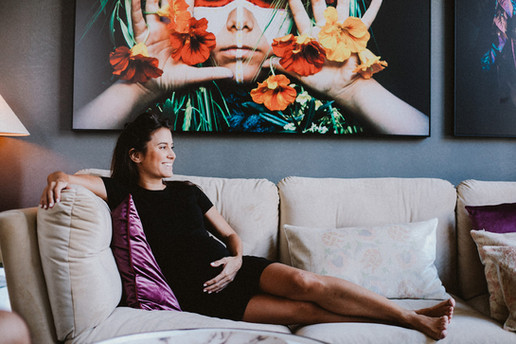 שיר חסין צילומי הריון