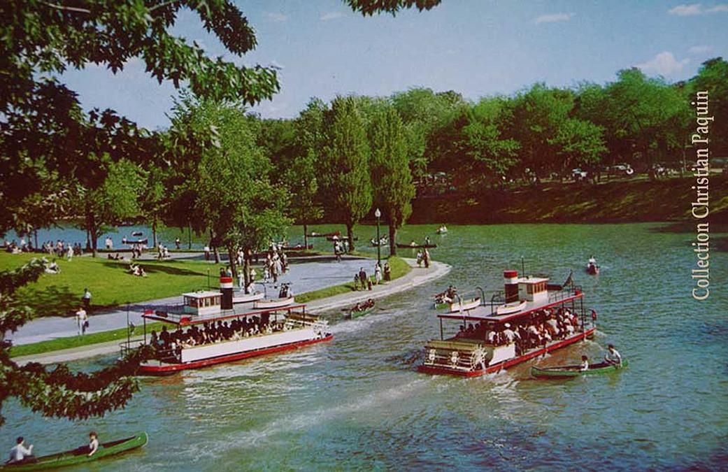 1958-Parc La Fontaine Les gondoles sur le lac