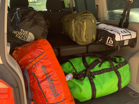 Gear packed & ready to go
