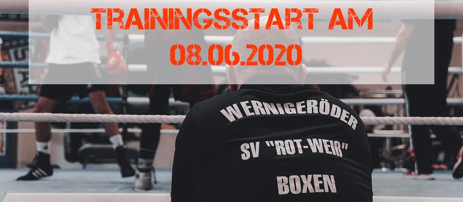 Start des Trainingsbetriebs in der Halle ab 08.06.2020