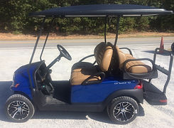 Club Car Onward PTV pearl blue golf cart
