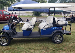 Club Car Onward 6 Passenger Lifted PTV Pearl Blue