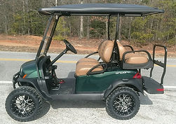 Club Car Onward Lifted PTV metallic jade green