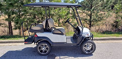 Club Car Onward PTV Lifted white golf cart