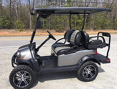 Club Car Onward Lifted PTV  metallic platinum golf cart