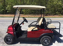 Club Car Onward PTV candy apple red golf cart
