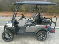 Club Car Onward Lifted PTV golf cart platinum