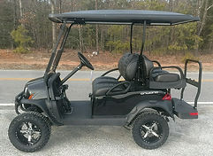 Club Car Onward Lifted PTV metallic black