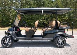 Club Car Onward Lifted PTV Six Passenger Tuxedo Black