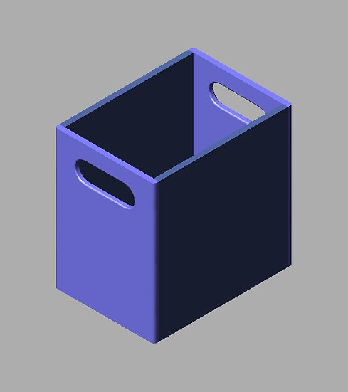 """Polymer Tote (12-16"""" ht, 6-14"""" wd, 12-16"""" lg"""