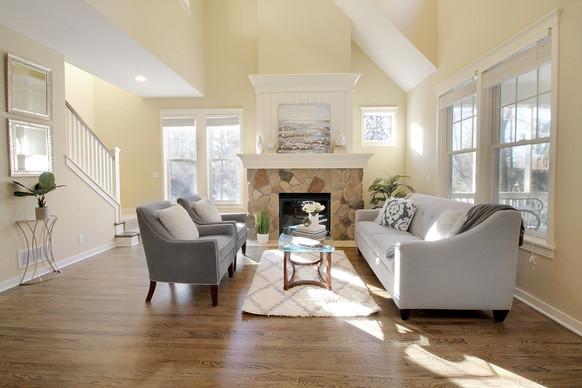 Staged living room in Stillwater, MN