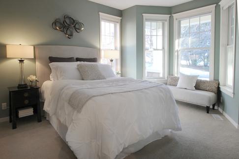 Staged bedroom in Stillwater, MN