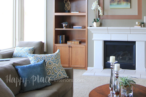 Staged livingroom in Hugo, MN