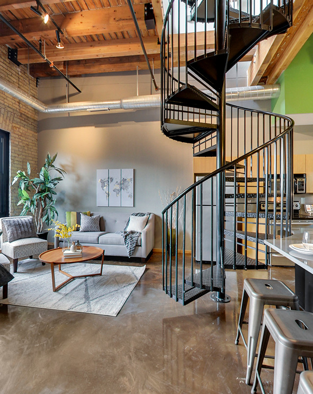 Loft Condo Decorating, Lowertown, St. Paul, MN