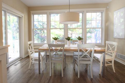 Staged dining room in Stillwater, MN