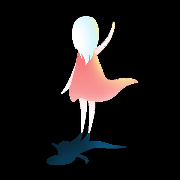 —Pngtree—cartoon blue haired girl back_4