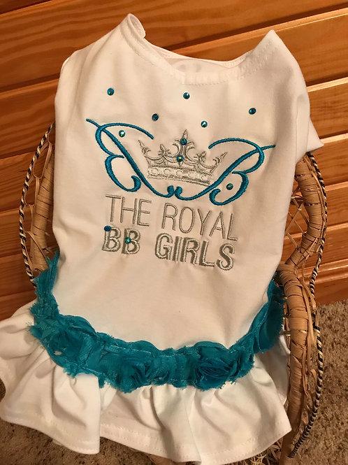 Peacock Blue Royal BB Girl Tee Shirt