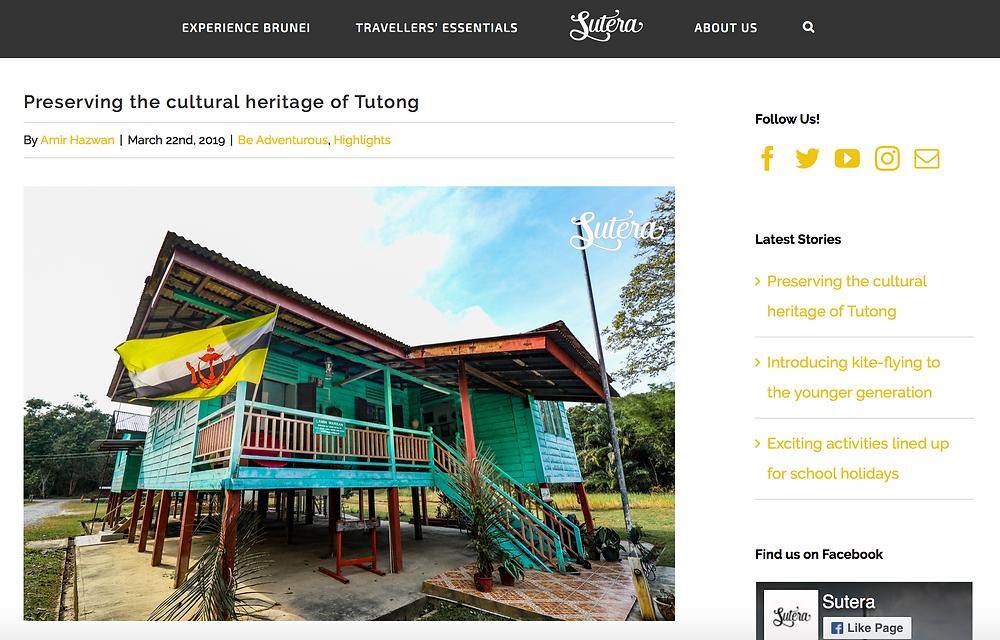 Sutera page - Lamin Warisan article