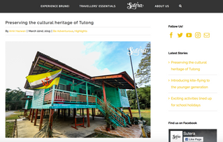 Article about Lamin Warisan (Heritage House)