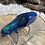 Thumbnail: Azurite with Malachite Tumbled Moon Shape