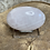 Thumbnail: Banded Pink Mangano Calcite Palm Stone Fluorescent under UV