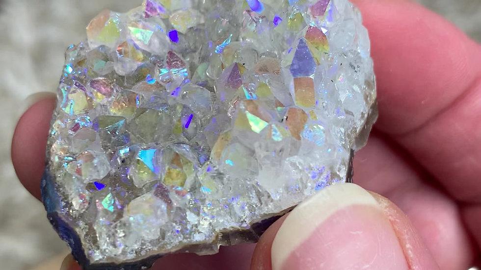 Angel Aura Crystal Quartz Cluster