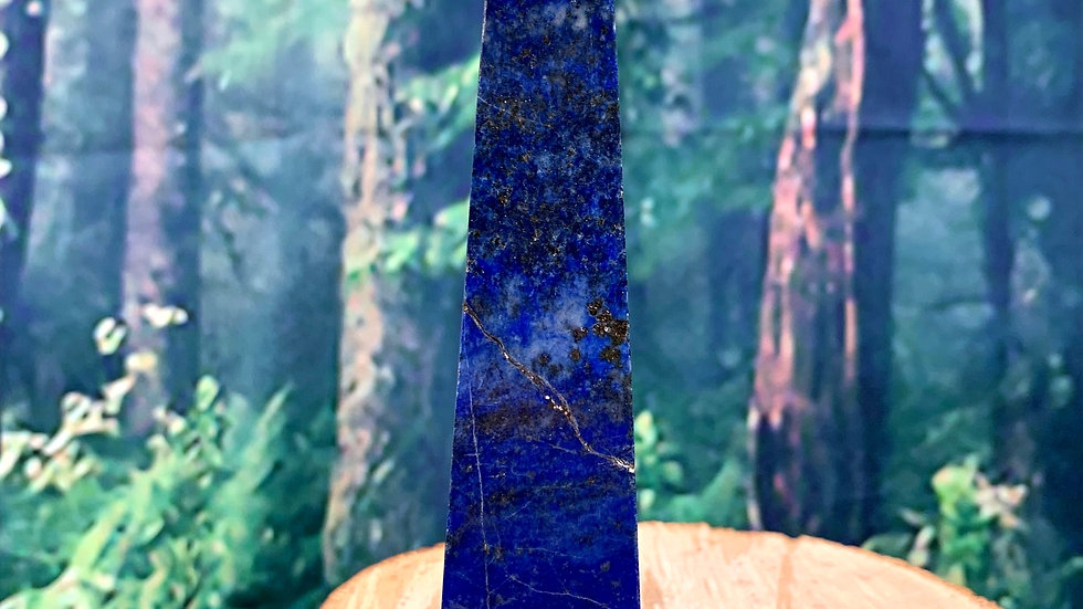 Celestial Lapis Lazuli Obelisk with Pyrite