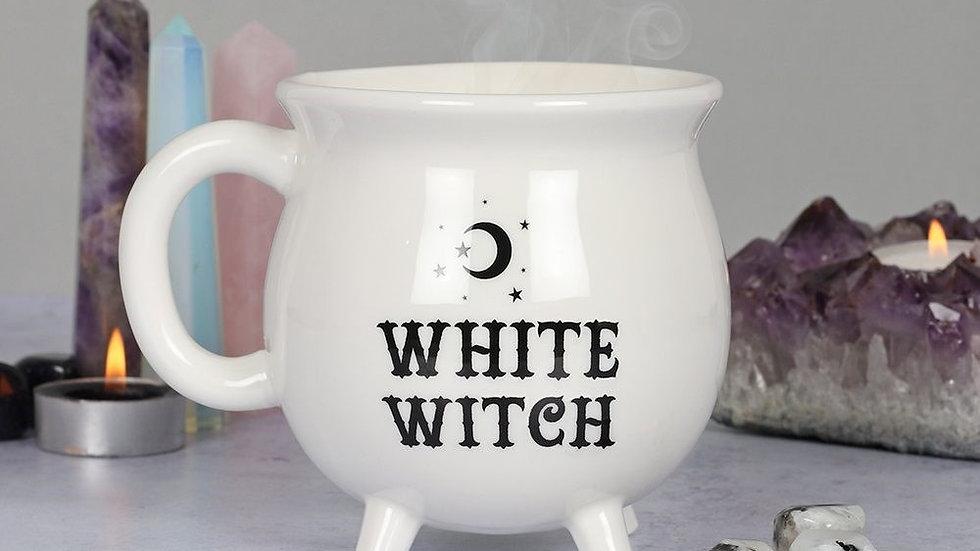 White Witch Cauldron Moon Mug