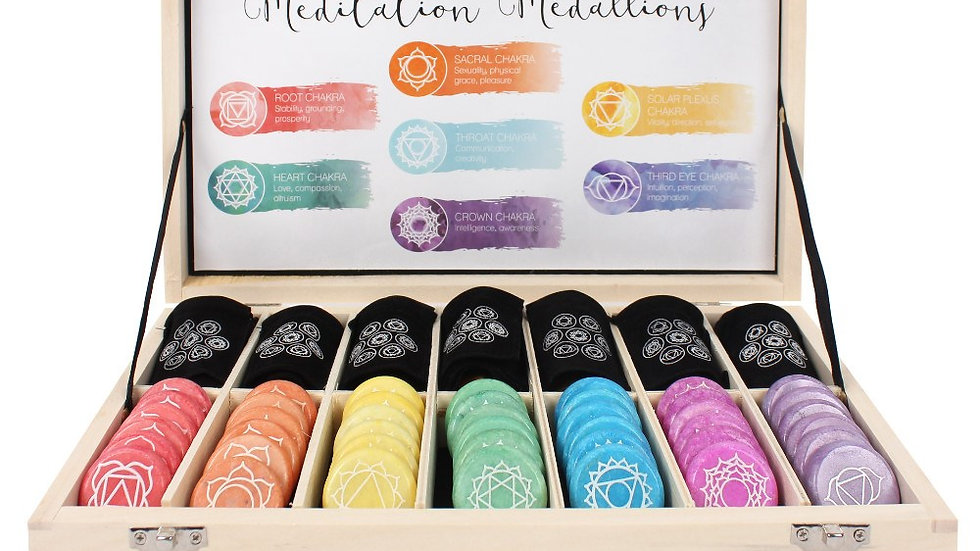 Set of 7 Chakra Meditation Medallions