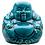 Thumbnail: Teal Blue Aged Laughing Sitting Buddha
