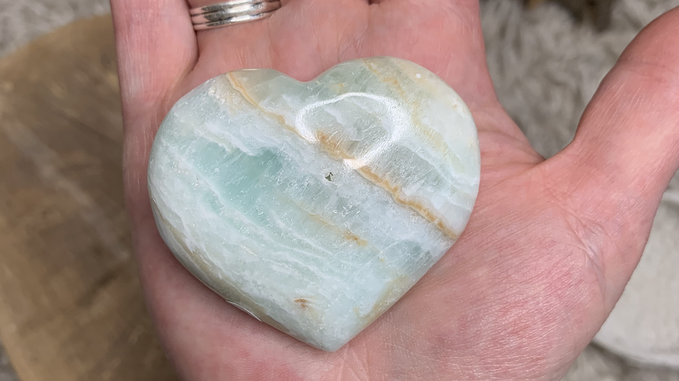Cleansing Caribbean Blue Calcite Heart