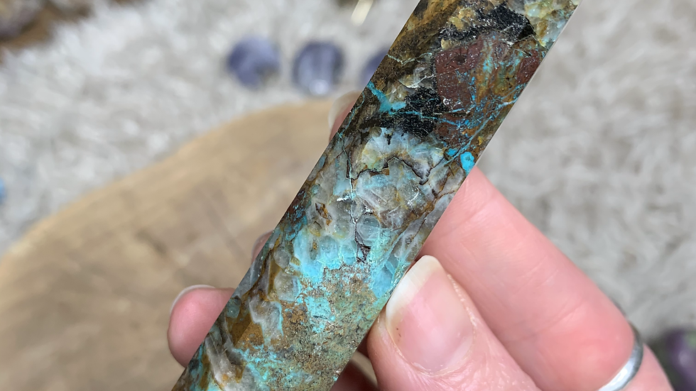 Chrysocolla Tower for bringing Harmony to the Home