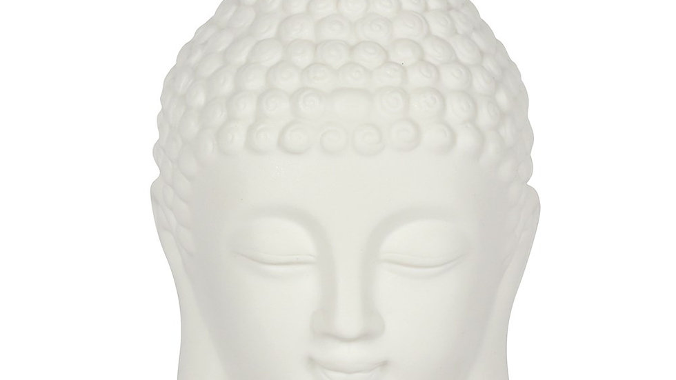 White Buddha Head Calming Lamp