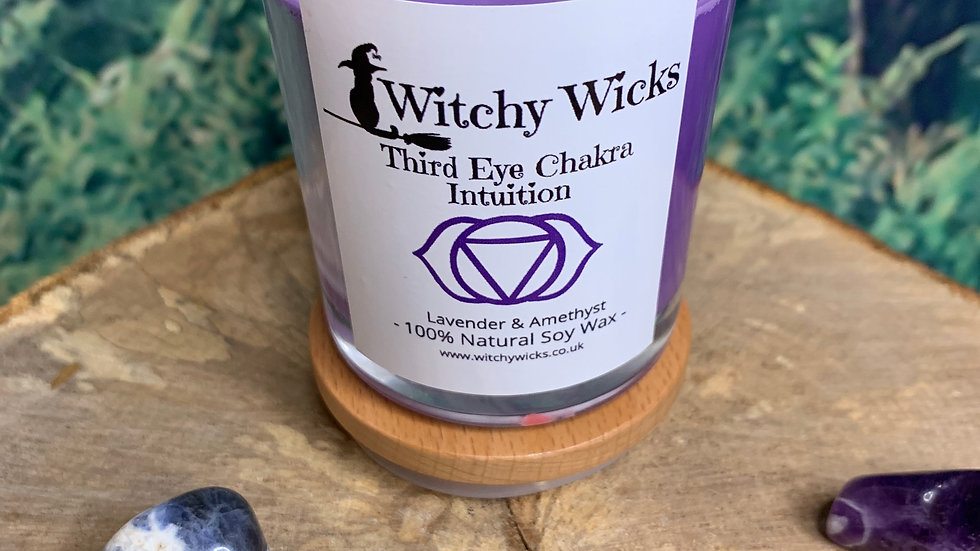 Third Eye Chakra Candle for Intuition
