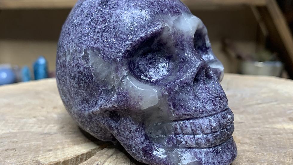 Large Lepidolite Micca Skull