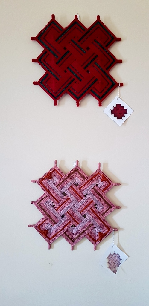 Small Red and Tibetan Endless Knot