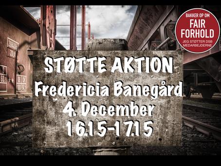 Støtte Aktion - Fredericia Banegård
